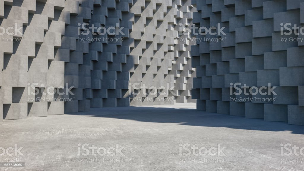 Abstract concrete architecture structure,Product showcase,,Abstract empty space. stock photo