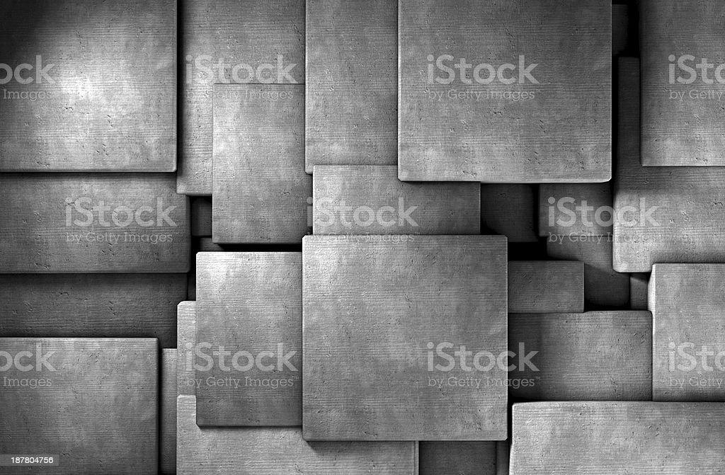 abstract concrete blocks stock photo