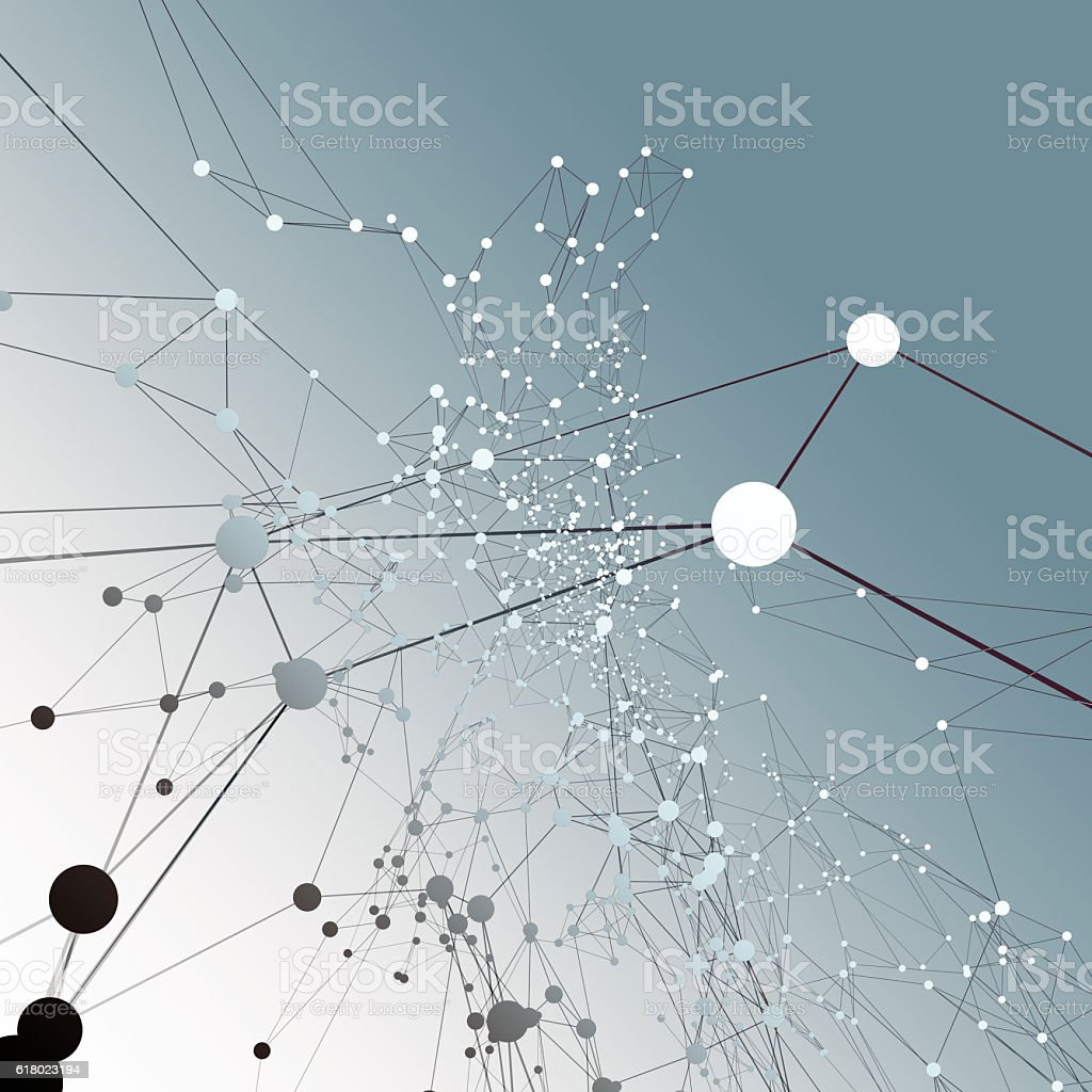 Abstract connection background vector art illustration