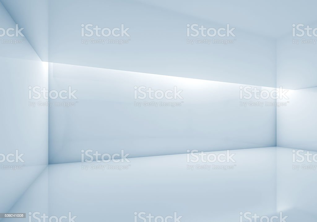 Abstract contemporary interior, 3d render stock photo