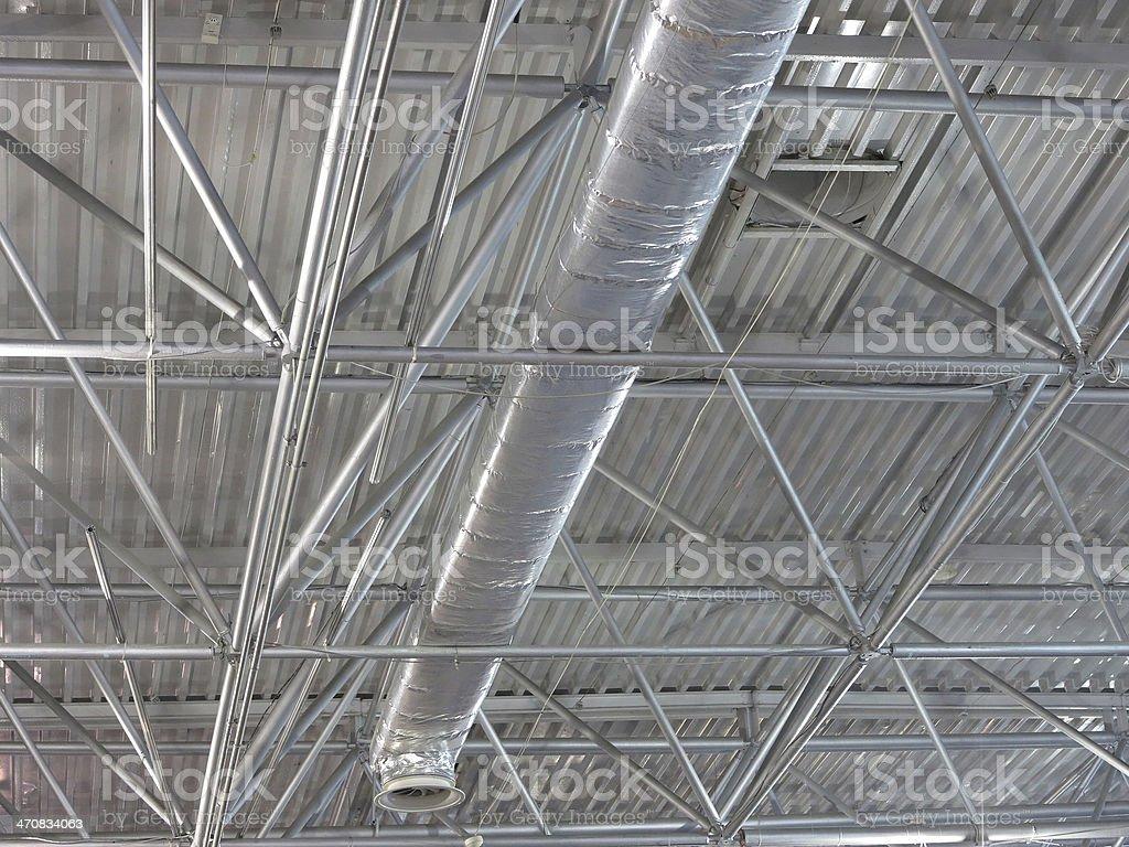 Abstrato moderno metálico estruturas de tecnologia Telhado foto de stock royalty-free