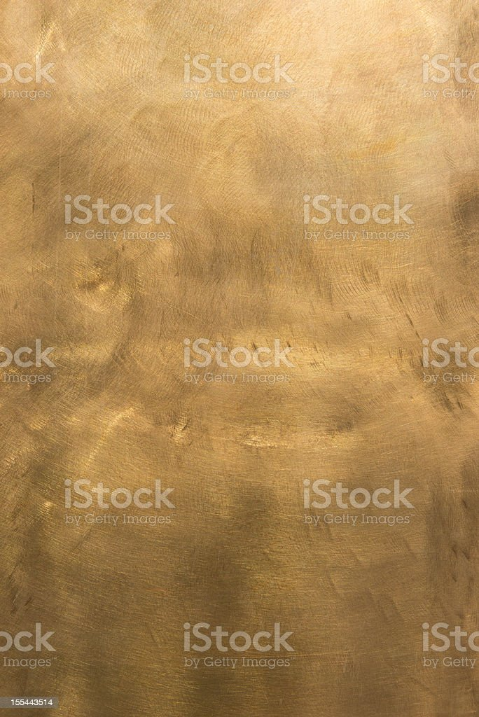 Abstract brass surface, textured and mottled XXL stock photo