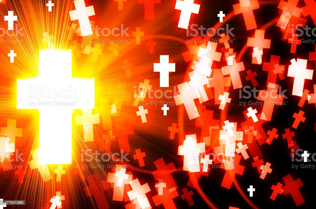 abstract cross light background royalty-free stock photo