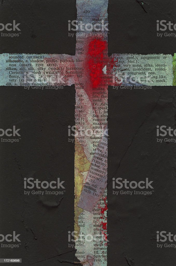 Abstract Cross stock photo