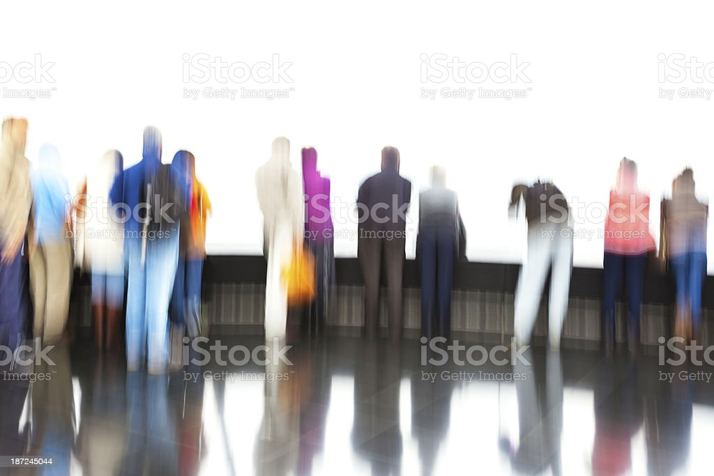 Abstract Crowd of People royalty-free stock photo