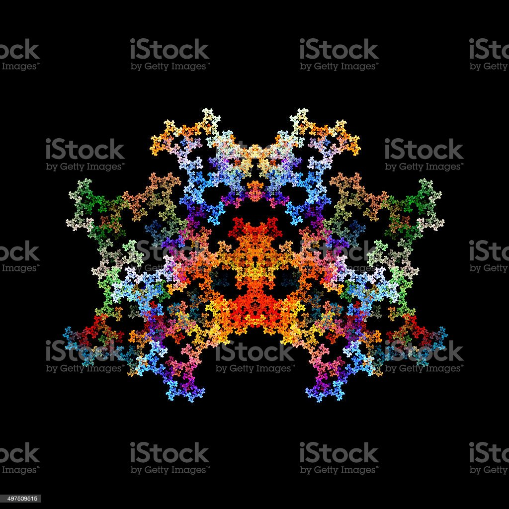 Abstract crystal fractal object royalty-free stock photo