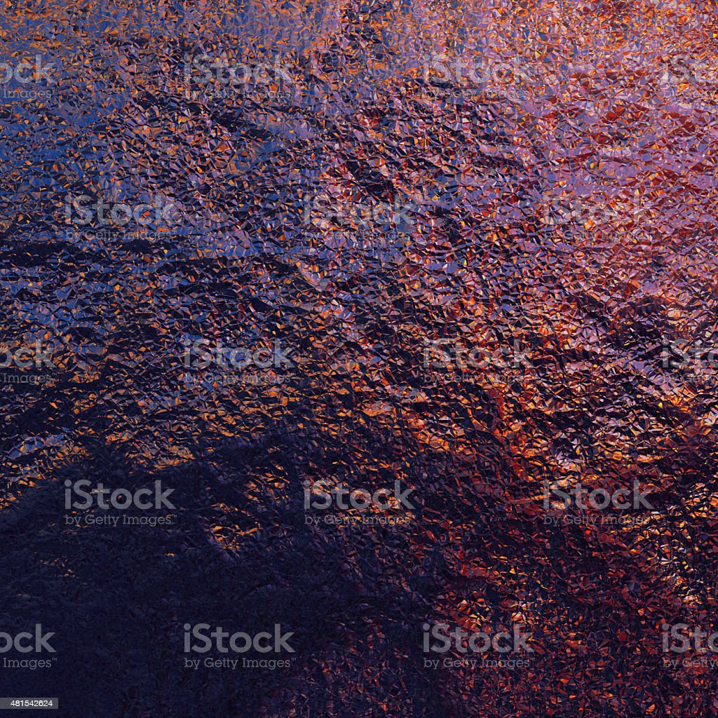 Abstract crystals stock photo