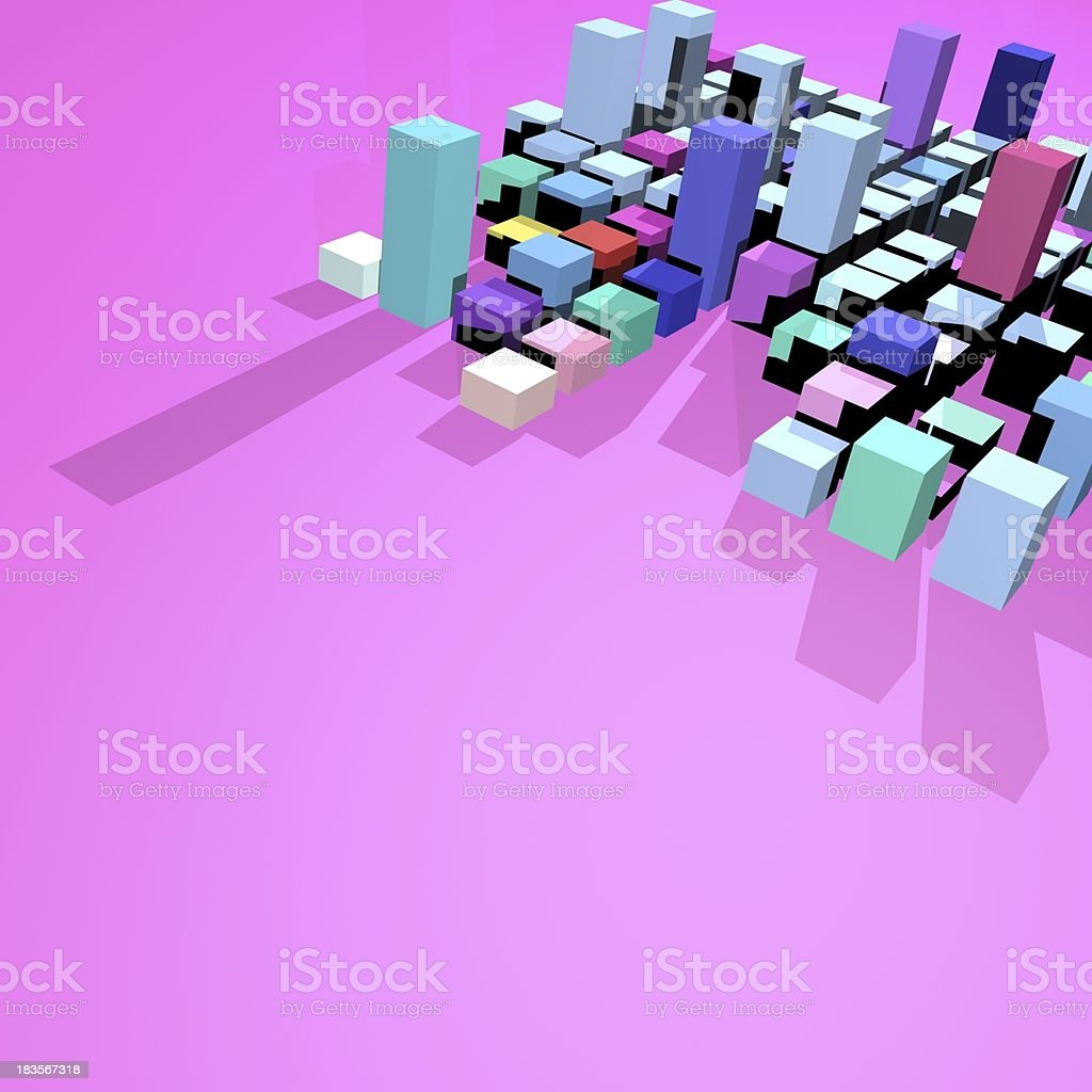 abstract cube background royalty-free stock photo