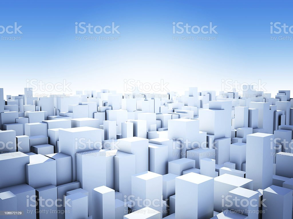 abstract cube city royalty-free stock photo