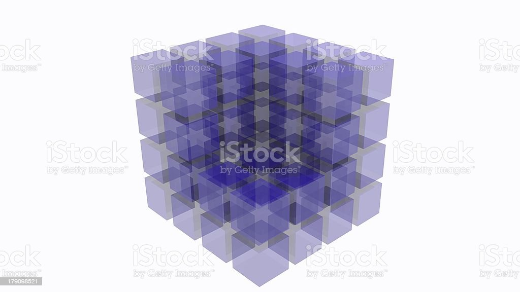 3D abstract cube royalty-free stock photo