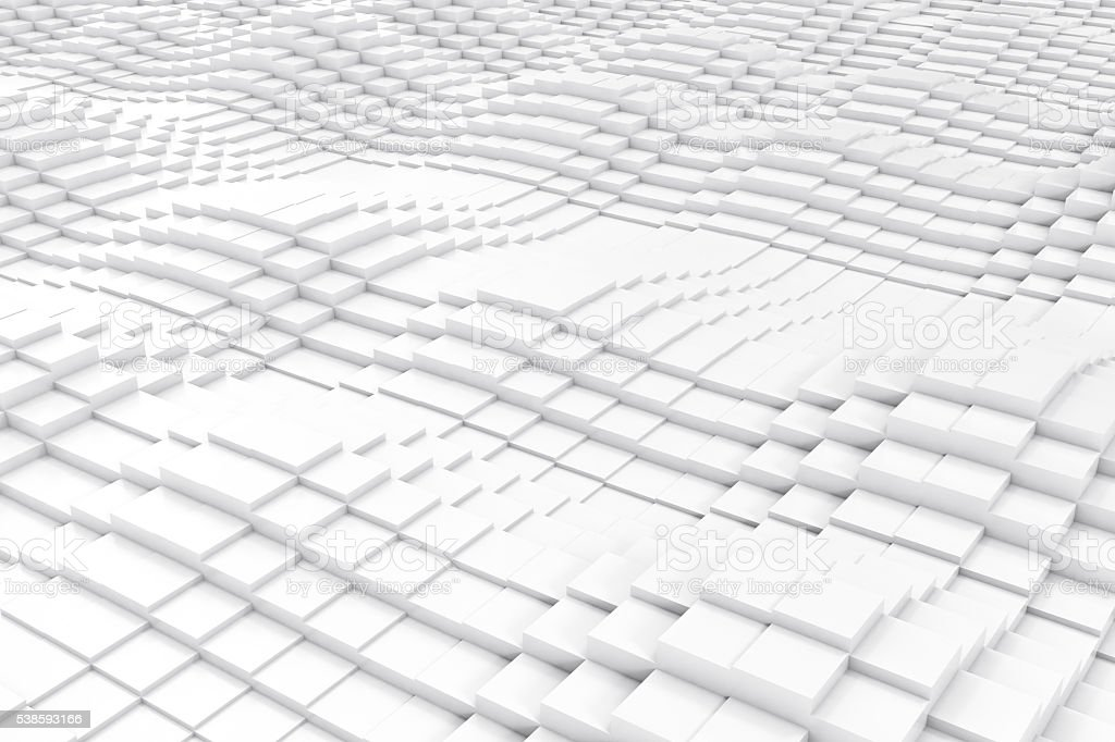 Abstract cubes in the form of a wave. 3d illustration stock photo
