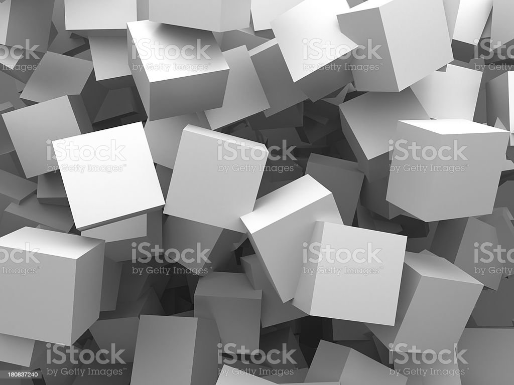abstract cubes labyrinth stock photo