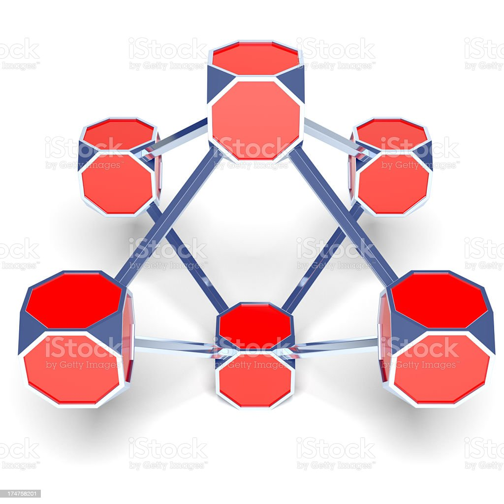 Abstract cubes structure royalty-free stock photo