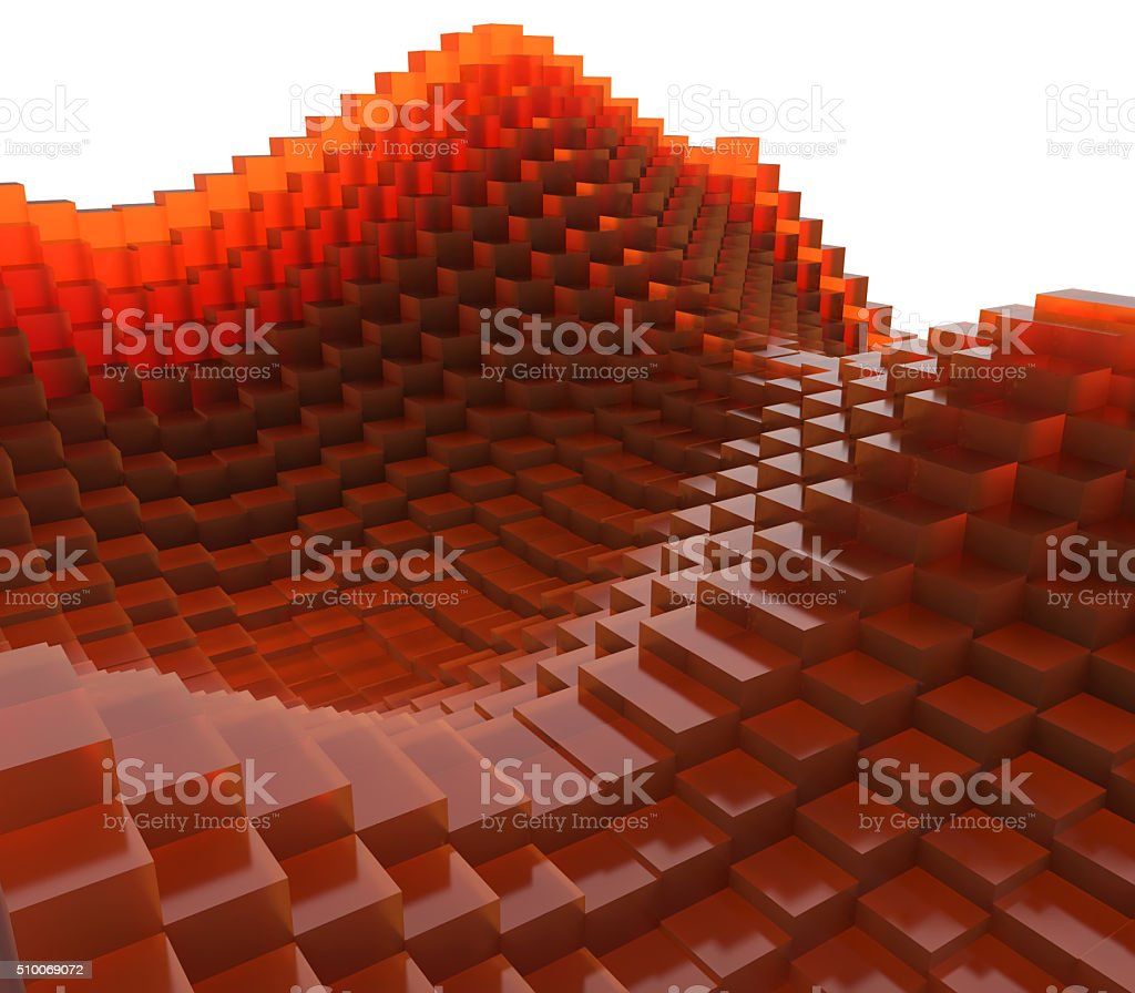 Abstract cubic wave stock photo