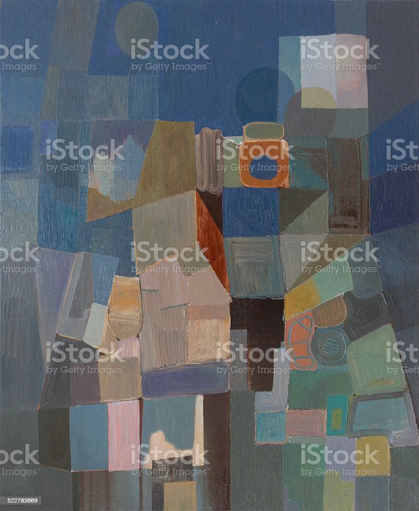 Abstract cubist composition stock photo