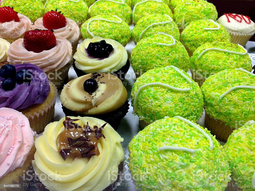 Abstract Cupcakes stock photo