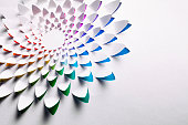 Abstract Cuttet Paper Rainbow Flower