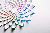 Abstract Cuttet Paper Rainbow Flower