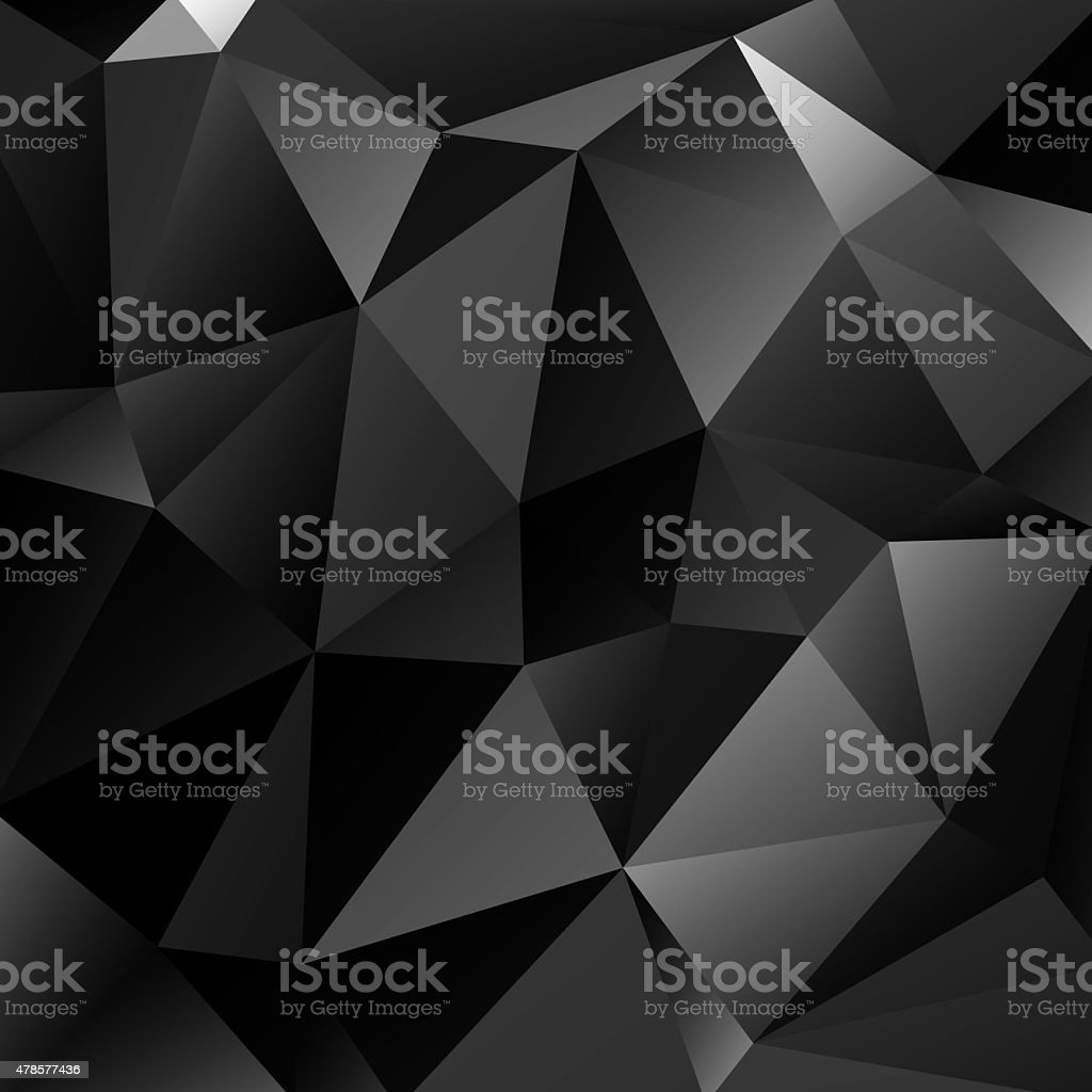 Abstract dark vector background constructed of triangles stock photo