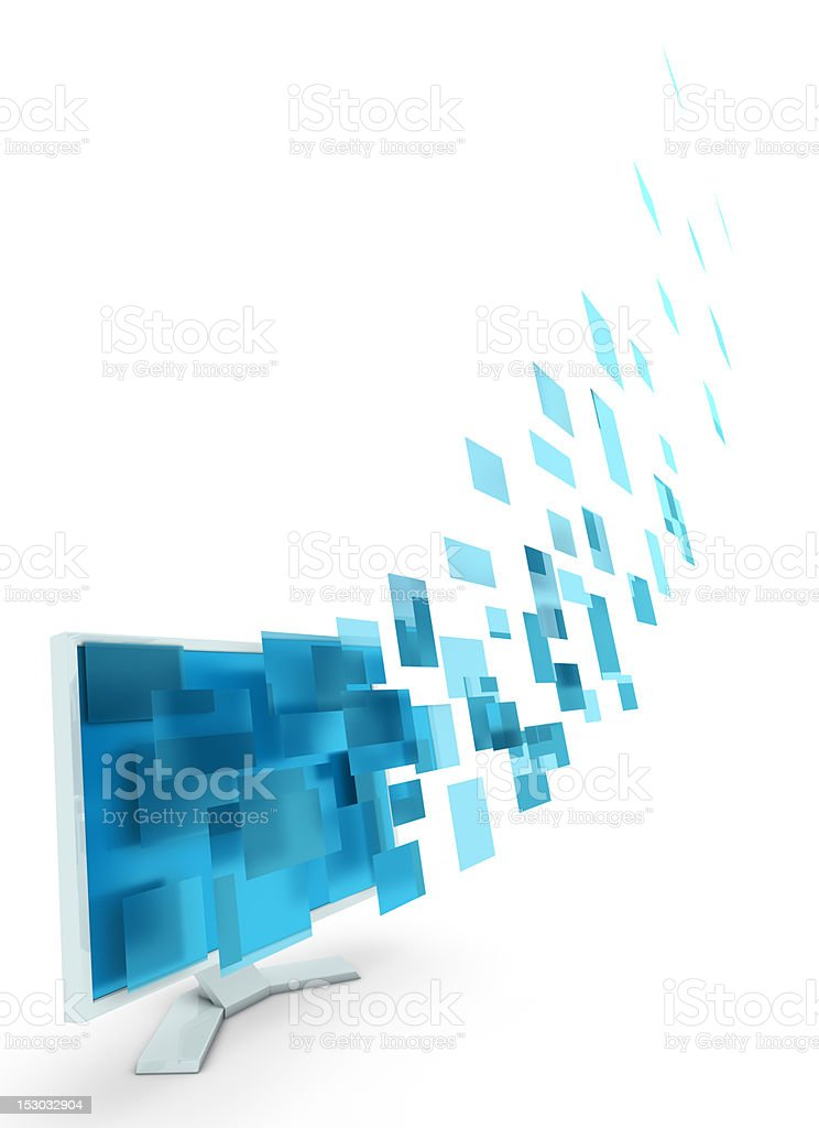 Abstract date transfering stock photo