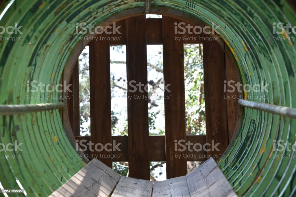 Abstract dead-end tunnel stock photo