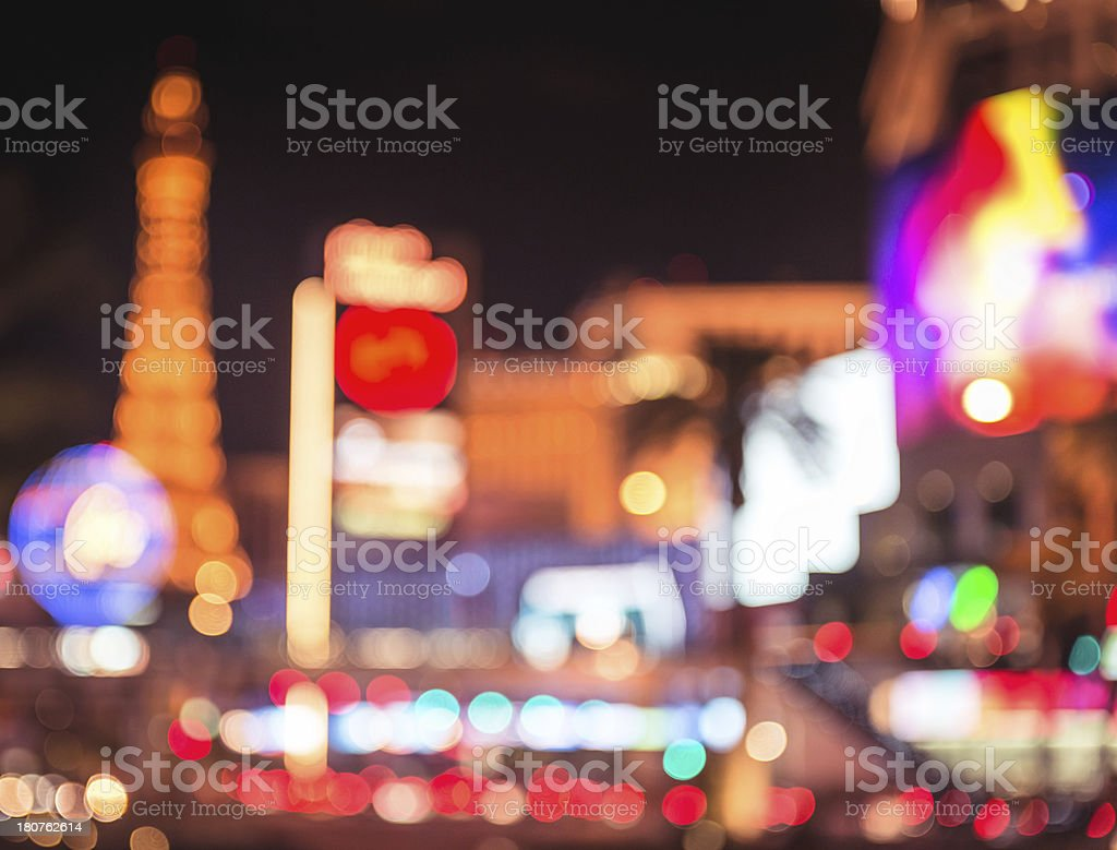 Abstract defocus light on Las Vegas royalty-free stock photo