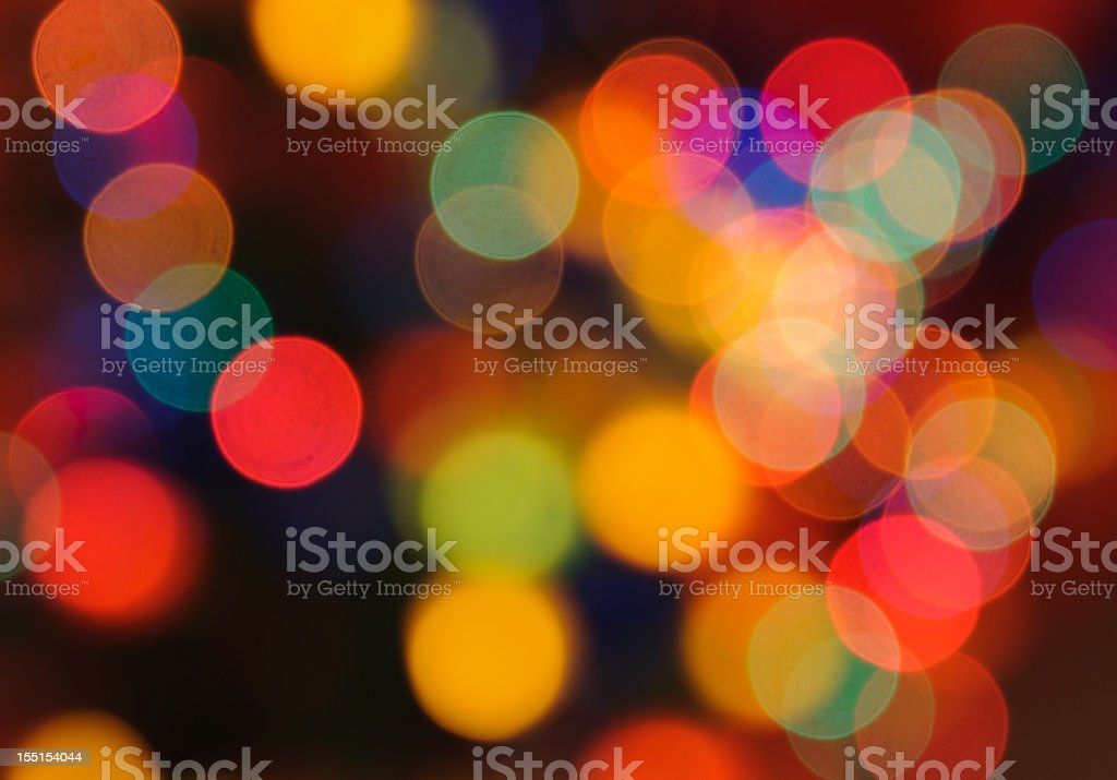 Abstract defocused color lights royalty-free stock photo