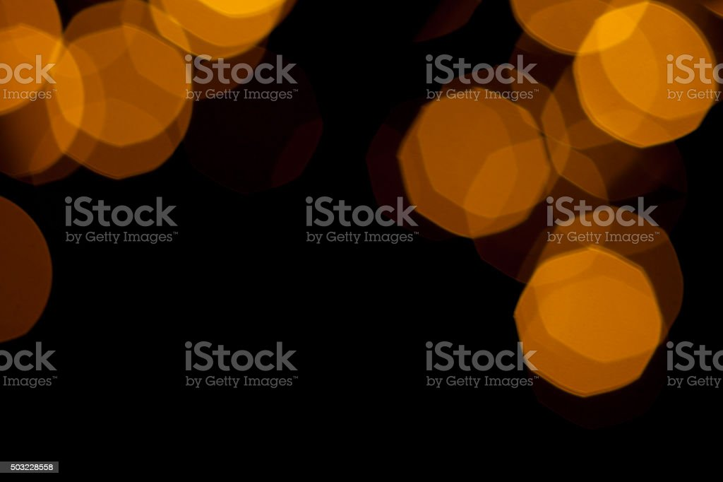 Abstract defocused gold bokeh light pattern stock photo