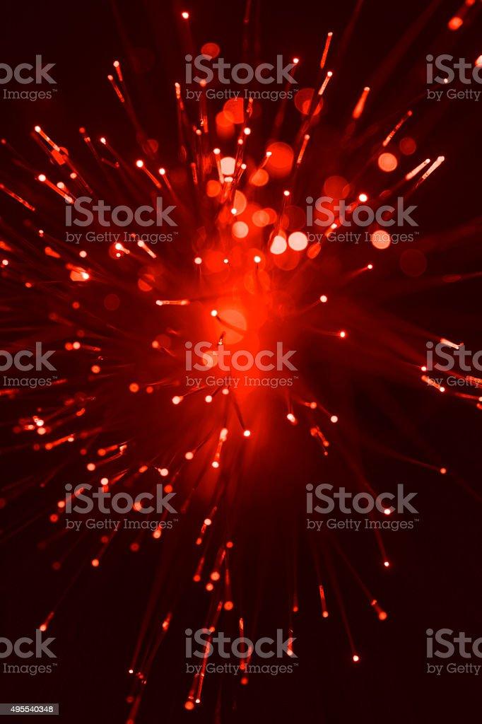 Abstract Defocused Light Background - Optic Fibre stock photo