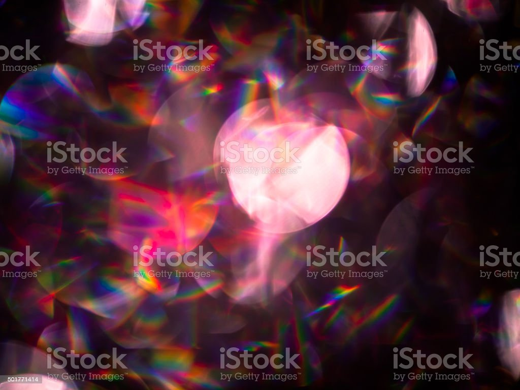 Abstract defocused multi-color bokeh light pattern stock photo