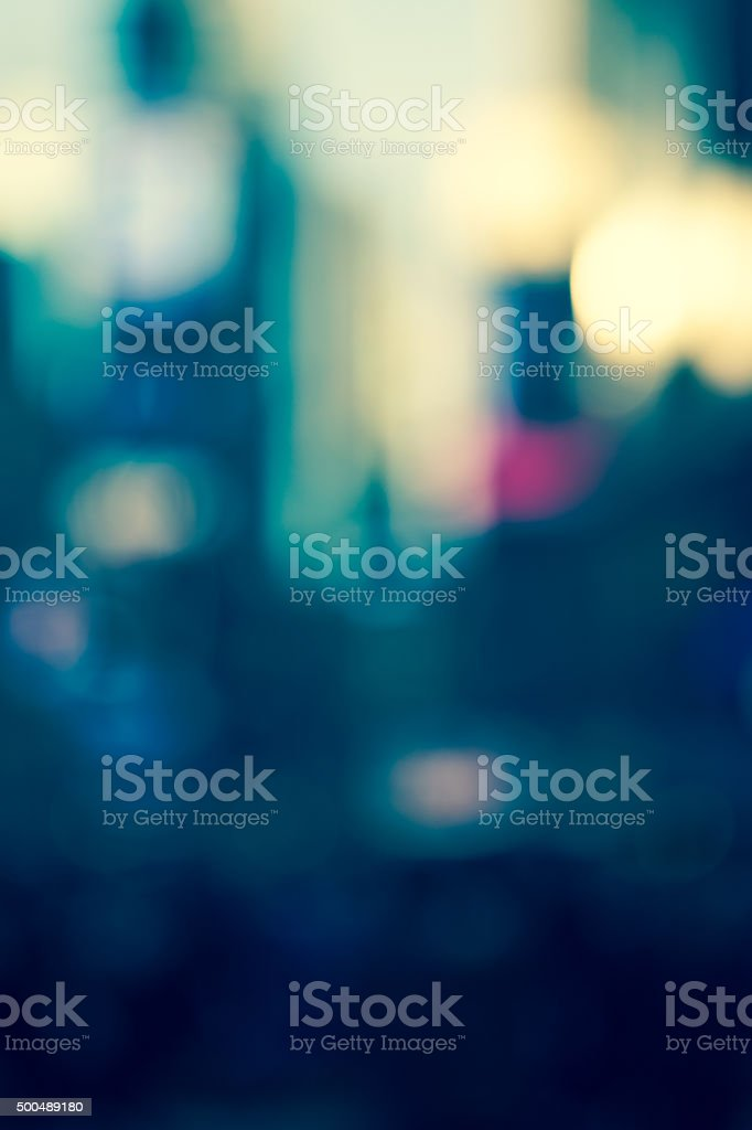 Abstract defocused street scene in Manhattan, New York City stock photo