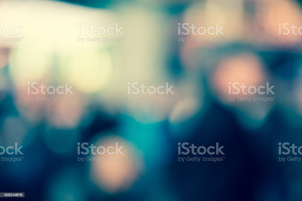 Abstract defocused street scene in Times Square, New York City stock photo