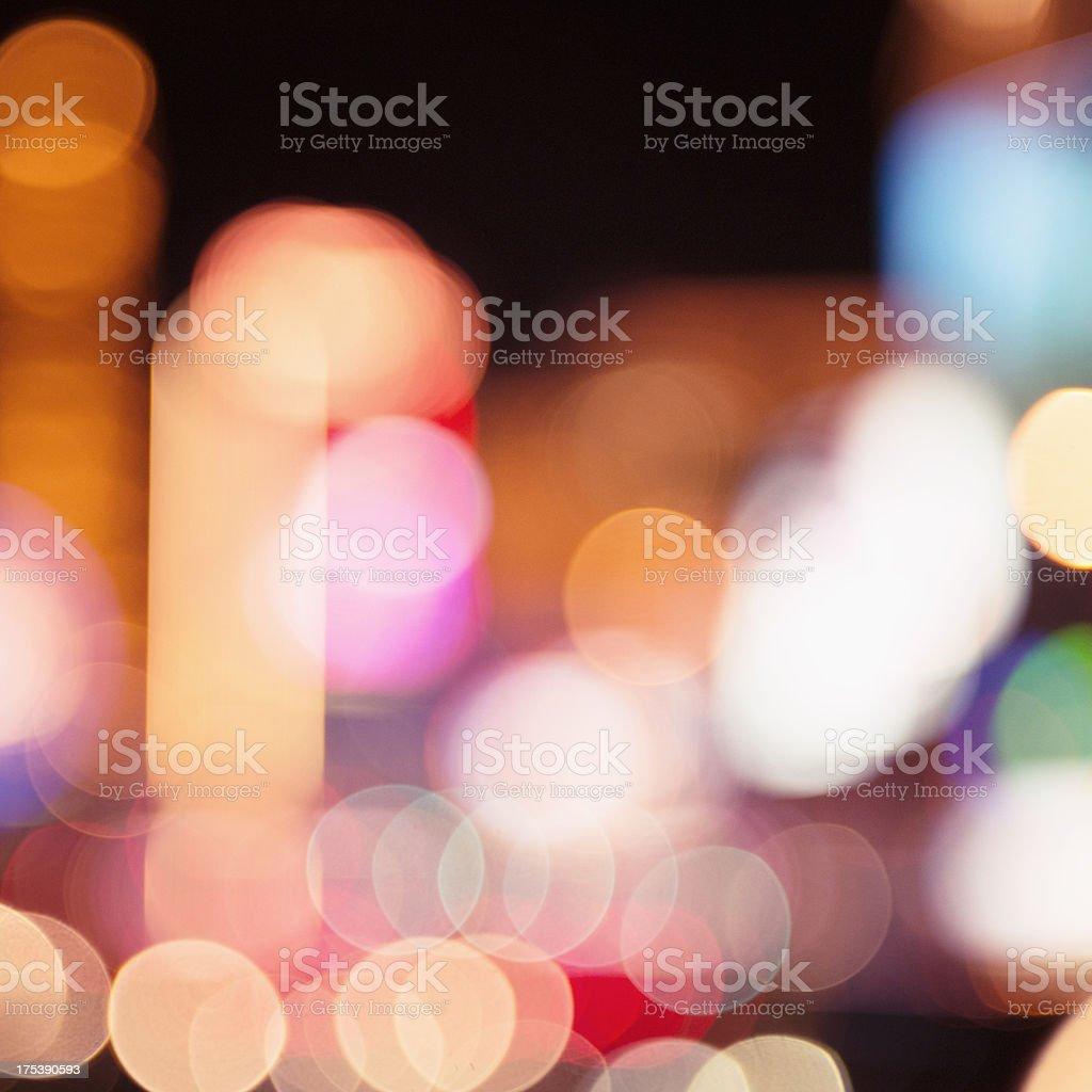Abstract defocuss light on Las Vegas stock photo