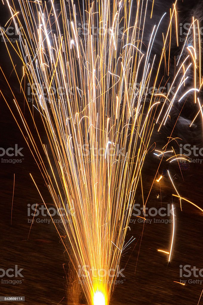 Abstract Defocussed Fireworks stock photo