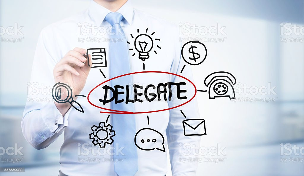 Abstract delegate sketch stock photo