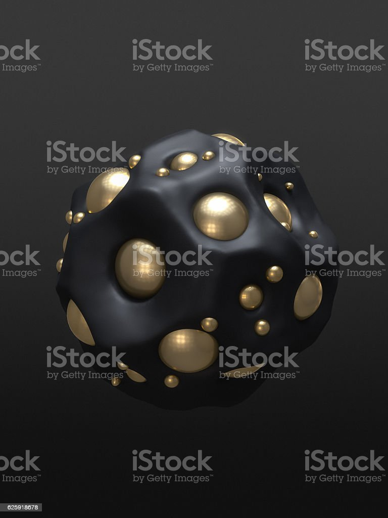Abstract design Gold On Black stock photo
