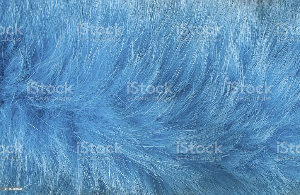 Abstract design of artificial blue fur moving in the wind stock photo