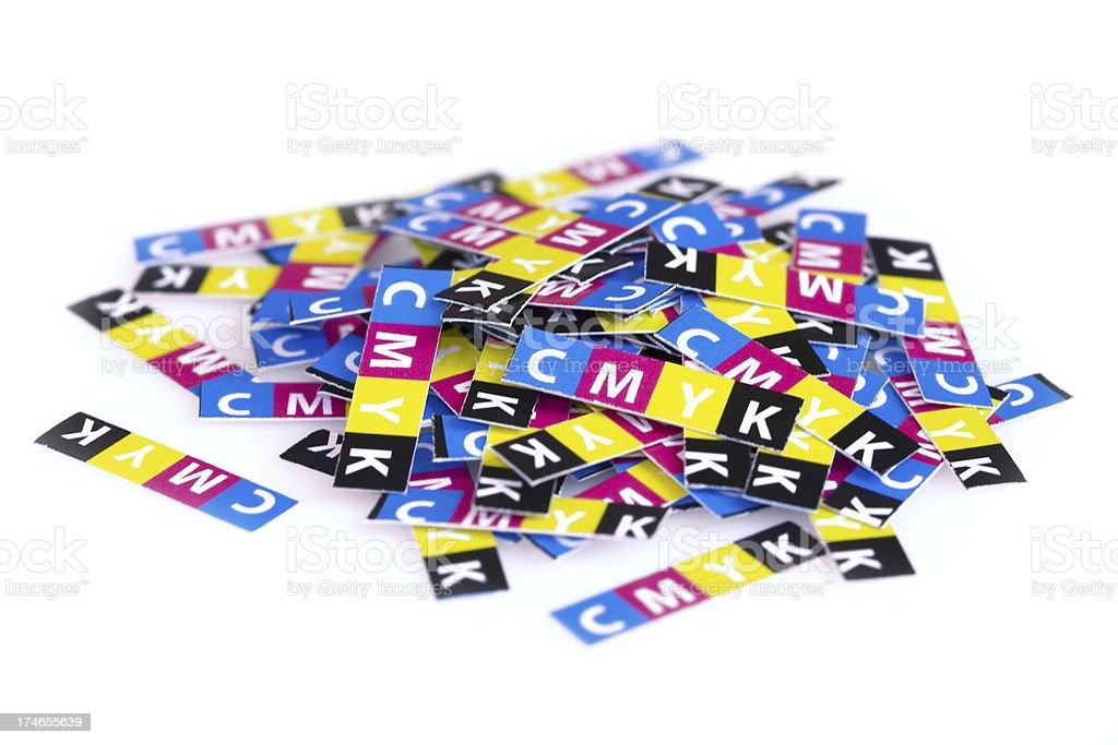 CMYK abstract design stock photo