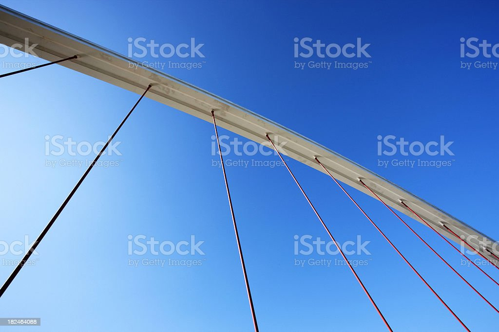 Abstract detail of a Suspension Bridge royalty-free stock photo