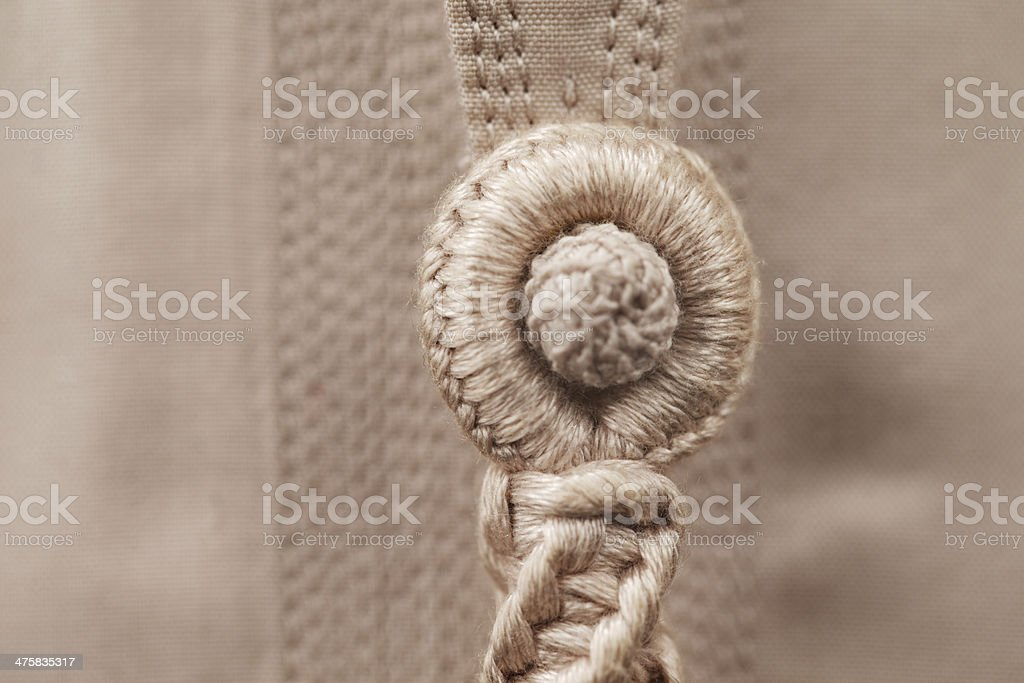 Abstract detail of a Tarboosh which is Arabic style tie stock photo