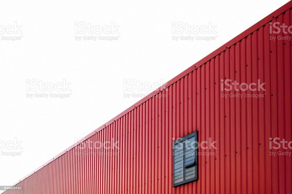 Abstract Diagonal Building Facade Against White Sky stock photo