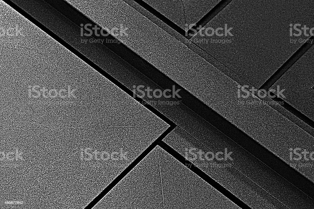 Abstract diagonal composition of metal doors with powder coating stock photo