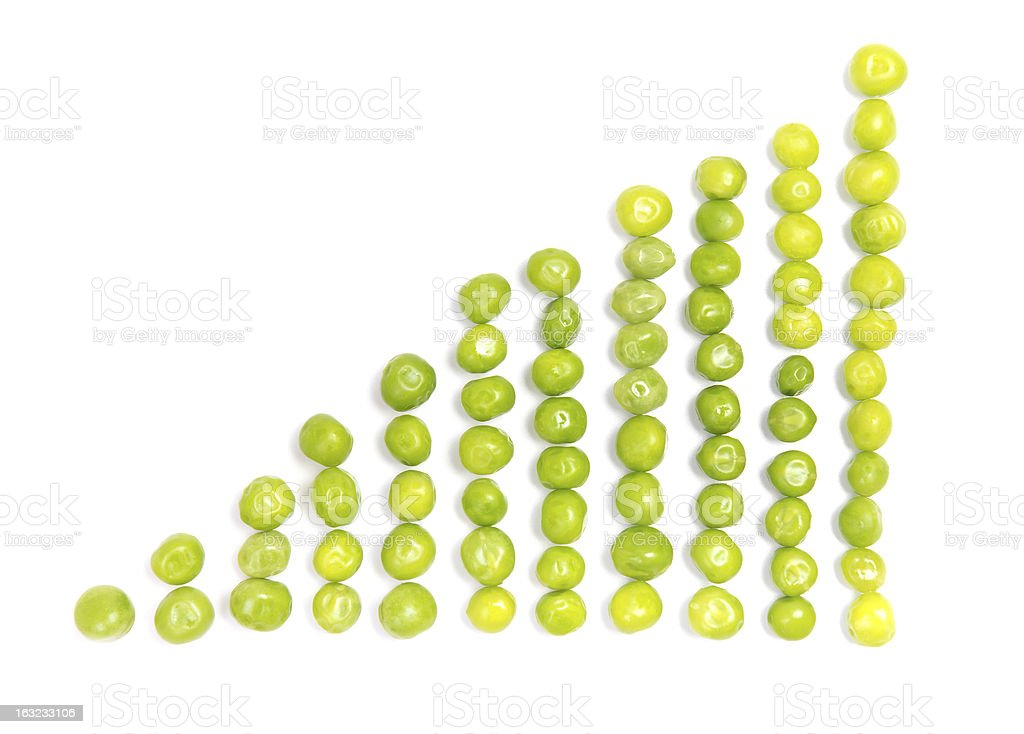 abstract diagram shaped from fresh pea pods royalty-free stock photo