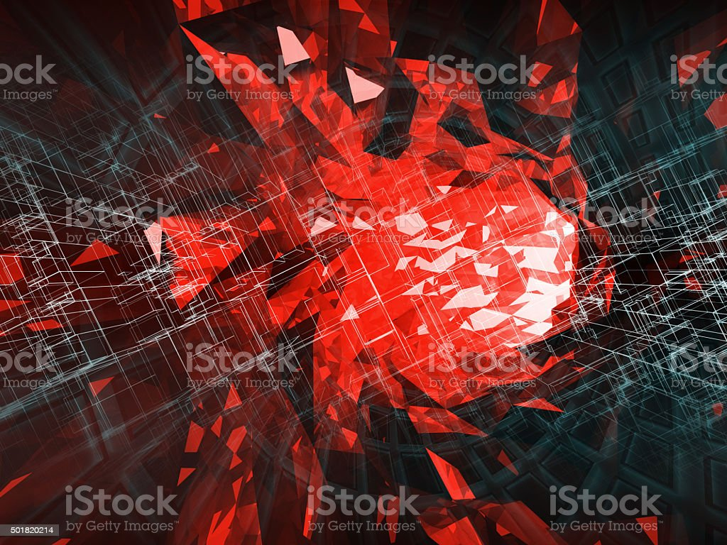 Abstract digital background, high-tech concept stock photo