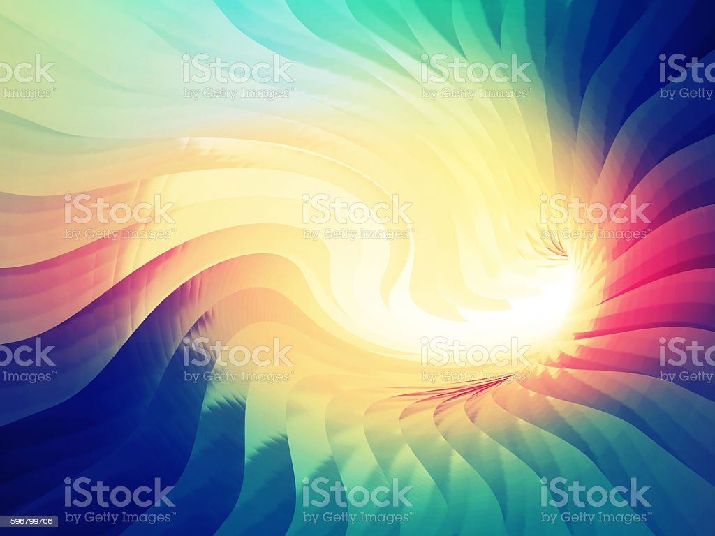 Abstract digital background. Twisted tunne stock photo