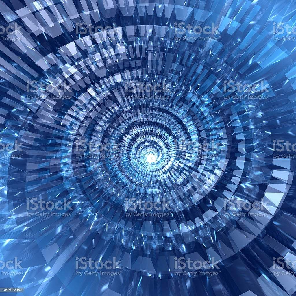 Abstract digital blue background stock photo