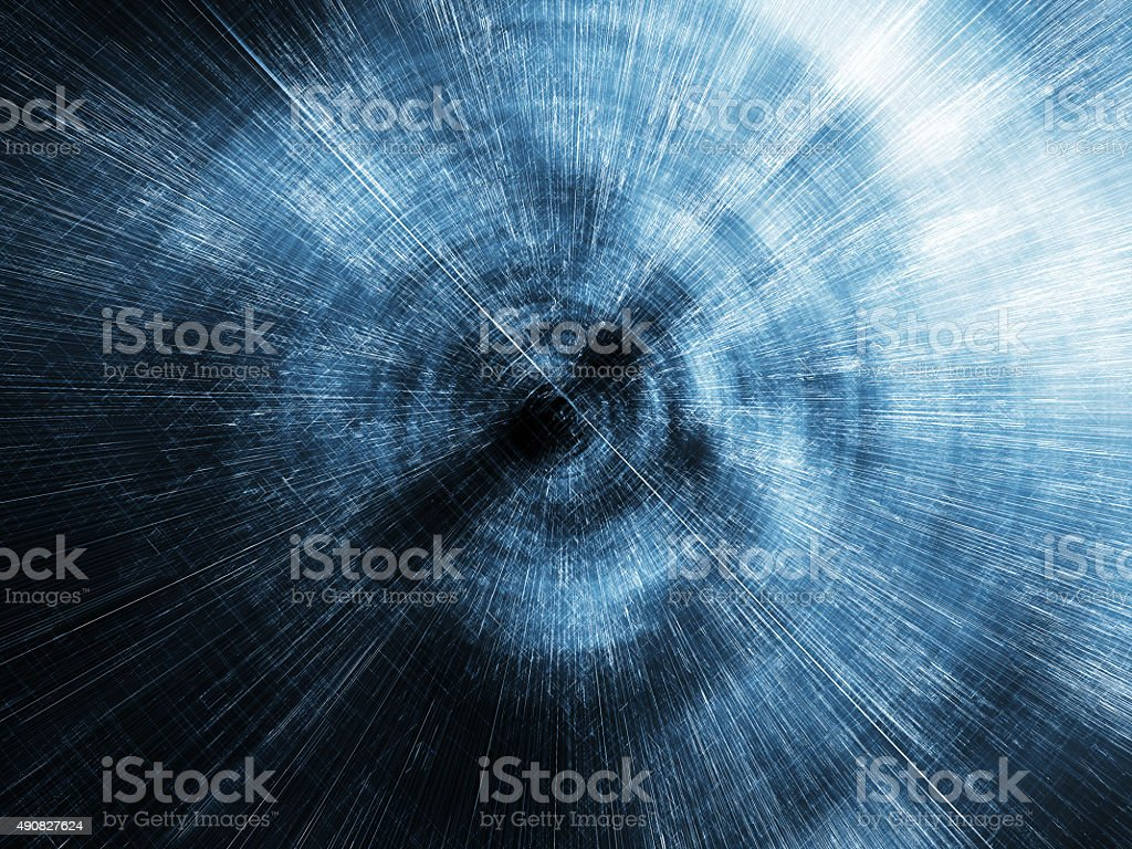 Abstract digital blurred tunnel perspective, 3d stock photo