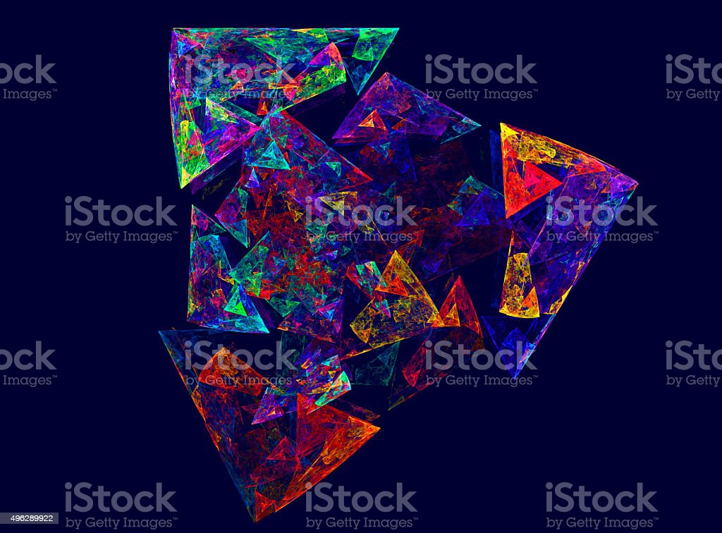 Abstract digital fractal multicolor pattern stock photo