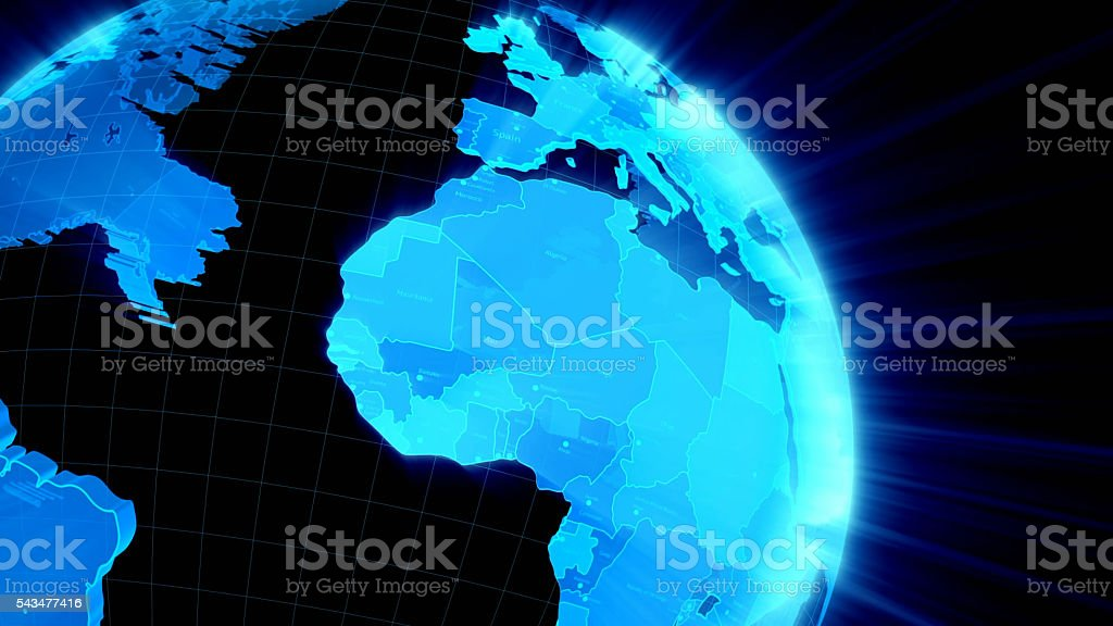 abstract digital image of the Earth stock photo