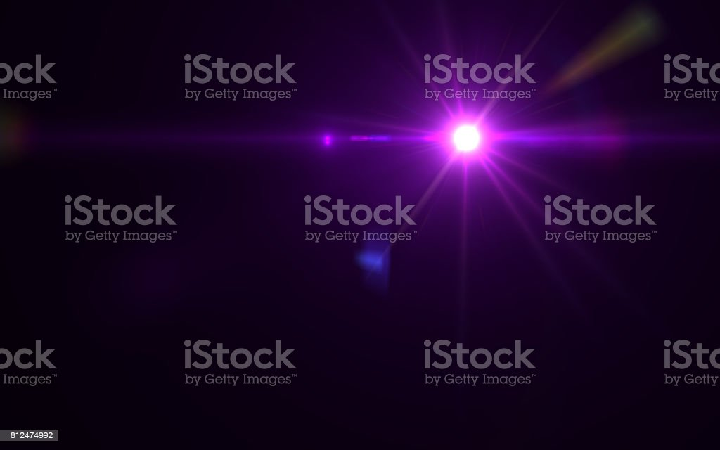 Abstract digital lens flare light stock photo